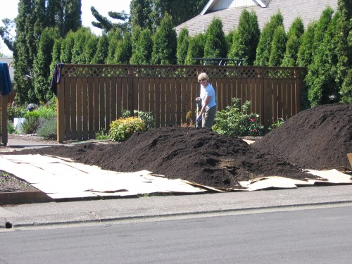 15 cu. yds. of soil to spread