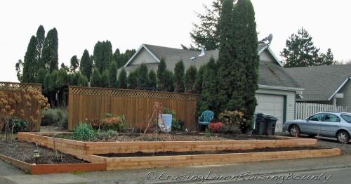 Upgraded community garden bed
